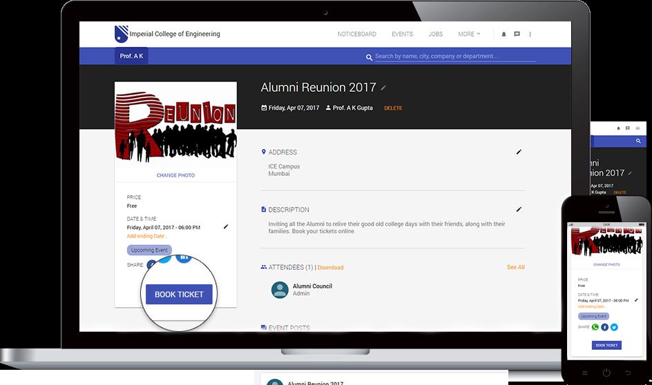 Alumni Events Management